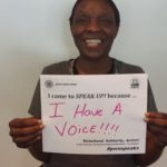 Why Cynthia came to SPEAK UP!